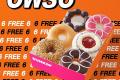 โปรโมชั่น Dunkin Donut โดนัท ซื้อ 6 ฟรี 6 และ โดนัท Fancy Rainbow และ โปรดังกิ้นโดนัท อื่นๆ ที่ร้าน ดังกิ้น โดนัท วันนี้